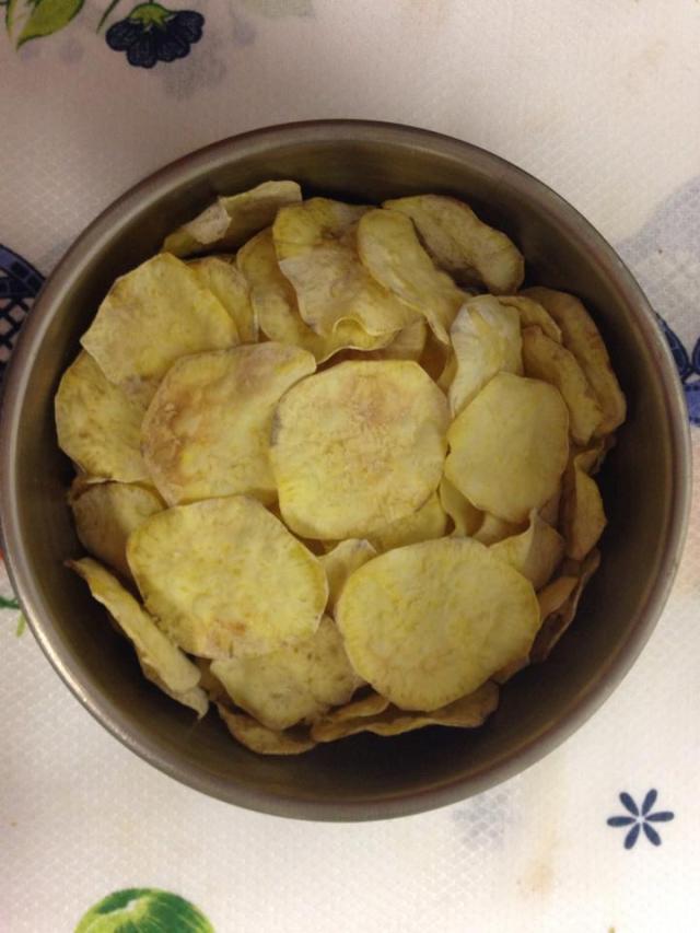 batata doce chips